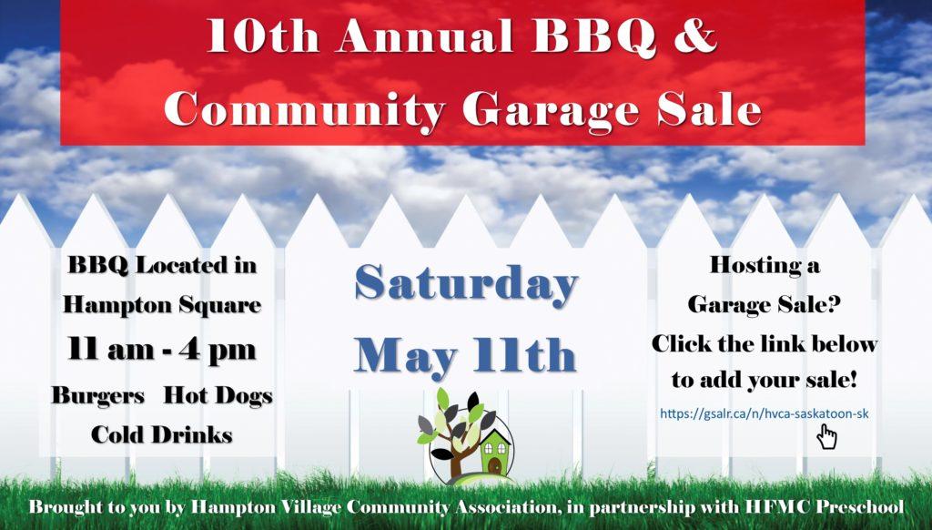 2019 BBQ and Garage Sale – Hampton Village Community Association